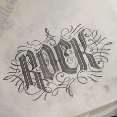 lettering / Rock by Patrick Cabral