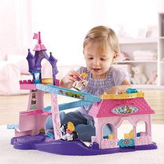 Madyson's next Christmas: Fisher-Price Little People Disney Princess Klip Klop Stable Play Set