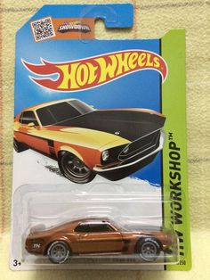 Hot Wheels 2015 Super Treasure Hunt Ford Mustang Boss 302 Card (New! Hot Car!) #HotWheels #Ford