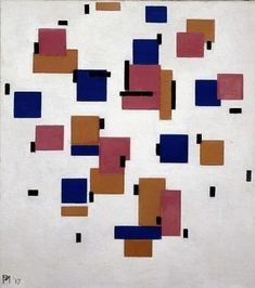 Composition in color B    1917    Piet Mondriaan (1872 - 1944)    oil on canvas