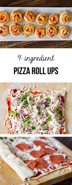 These 4-ingredient pizza roll ups come together so easy and are loved by all! Perfect for a quick dinner or snack.
