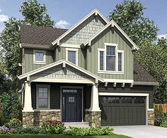 Deceptively Spacious Craftsman House Plan - 69586AM | Craftsman, Northwest, Narrow Lot, 1st Floor Master Suite, CAD Available, Loft, PDF | Architectural Designs