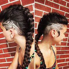 Long Braid & Double Side Shaves With Barber Art & Side Burns Model @squeakyisme Cut By @lova_dabarber @famous_fadez #UCFeed #BuzzCutFeed #Undercut #Undercuts #SideCut #SideShave #ShavedNape #NapeShave #BarberArt #BarberLife #BarberShopConnect #UndercutNation #SideBurns
