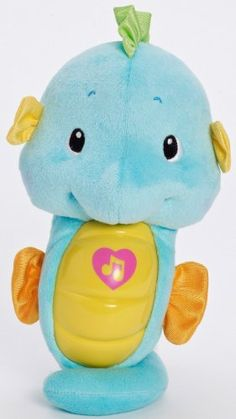 Amazon.com: Fisher-Price Ocean Wonders Soothe and Glow Seahorse, Blue: Toys & Games