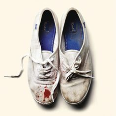 just bought some walmart white sneakers for $4.49, wanting to dirty them up and splatter. sleigh bells