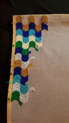 My tenth Bargello in progress! Bargello Patterns, Bargello Needlepoint, Bargello Quilts, Needlepoint Pillows, Needlepoint Stitches, Needlework, Plastic Canvas Stitches, Plastic Canvas Patterns, Cross Stitching