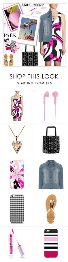 """Amusement Park"" by atelier-briella ❤ liked on Polyvore featuring Happy Plugs, Cotton Candy, Samoon, Mark & Maddux, Lime Crime, cute, chic, iPhonecases, PVShareYourStyle and canvastotebag"