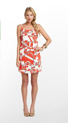 Lilly Pulitzer Summer '13- Laya Dress in Tango Orange Booze Cruise $198
