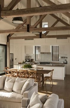 Kitchen Living Rooms Remodeling 12 Insane Farmhouse Living Room Decor And Design Ideas - Related Home Living Room, Living Room Decor, Kitchen Living, Modern Farmhouse Kitchens, Farmhouse Style, Rustic Farmhouse, Rustic Kitchen, Farmhouse Design, Kitchen Modern