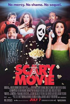 Scary Movie (2000) is a spoof of the whole horror genre. This is exactly what we wanted to create for Ghost Student and Jeff Two so we looked to this movie for ideas on how to mock the genre.