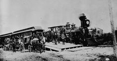 The first Canadian Pacific Railway through train from the Atlantic to the Pacific at Port Arthur.          30 June 1886