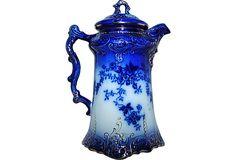 Flow-Blue LaBelle China Chocolate Pot on OneKingsLane.com