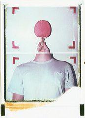 Ping Pong Study (artistofmimicry) Tags: portrait selfportrait film self polaroid is evolution study 202 convenient miniportrait iduv 1thou