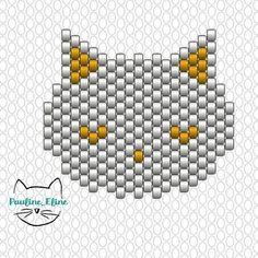 Merci pour vous supers commentaires sur le chat de toutes les couleurs! Je ne pensais pas qu'il vous plairait autant... Et donc, voici le diagramme! Enfin les diagrammes, je vous mets la tête fleurie...Hâte de voir vos versions! #jenfiledesperlesetjassume #miyuki #beadwork #beadpattern #diagrammeperles #chat #cat #brickstitch #motifpauline_eline