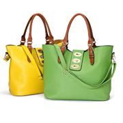 Work Bags - Kris-Ana Tote Love the colours of these bags! Travel Accessories, Fashion Accessories, Red Shop, Green Bag, Mint Green, Yellow, Work Bags, Cool Things To Buy, Stuff To Buy