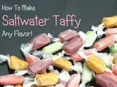 Let's Make Soft Saltwater Taffy - Fun & Easy Recipe! Fun Easy Recipes, Candy Recipes, My Recipes, Easy Meals, Healthy Recipes, Recipies, Easy Taffy Recipe, How To Make Taffy, Homemade Taffy
