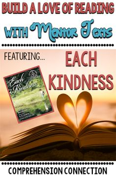 Teach theme with the book Each Kindness using this freebie.