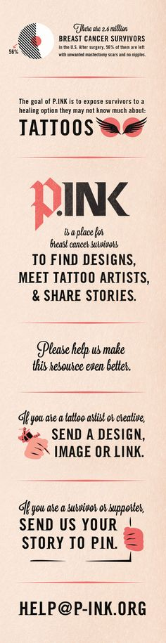 Awesome idea: community of breast cancer survivors on Pinterest sharing stories, inspiration, and tattoos.