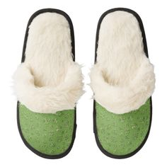 #StPatricksDay #Clover #shamrock #3leaf #4Leaf #Luck #irish #Ireland #Pride #IrishPride #faith #Green #StPattyDay #Slippers Pair Of Fuzzy Slippers