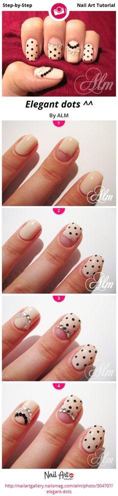 Elegant dots ^^ by ALM - Nail Art Gallery Step-by-Step Tutorials nailartgallery.nailsmag.com by Nails Magazine www.nailsmag.com