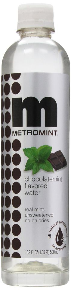 Mint chocolate flavored water. No sugar, no artificial sweetners, no carbonation.