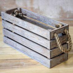 Diy Wood Box, Wooden Crate Boxes, Wood Boxes, Diy Pallet Projects, Diy Wood Projects, Wood Crafts, Wooden Organizer, Starter Set, Wooden Art