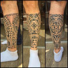 Mais uma perna fechada. Total de 5 sessões. #maoritattoo #maori #polynesian…
