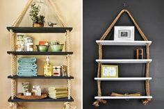 Diy home projects ideas home decor with rope diy home decor crafts Diy Home Decor Rustic, Diy Crafts For Home Decor, Diy And Crafts Sewing, Easy Diy Crafts, Cheap Home Decor, Decorating Your Home, Interior Decorating, Decorating Ideas, Decor Scandinavian