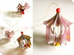 Popular DIY Crafts Blog: How to Make Heart House Ornaments