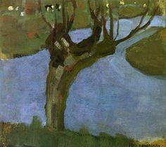 Irrigation Ditch with Mature Willow, 1900-1902: Piet Mondrian.