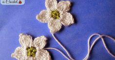 Crochet cluster flower, blackberry flower, white flower