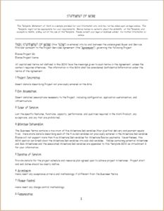 Statement of Work Template DOWNLOAD at http://www.templateinn.com/statement-of-work-templates/