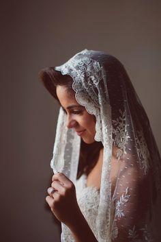 Mantilla veils are the ideal choice for a Spanish style wedding. Source: aljosa videtic photography #spanishtheme #bridalveils #mantilla
