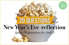 20 questions for a New Year's Eve reflection