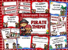 Tips and suggestions for a pirate themed classroom.  FREE pirate themed certificate that can be used to highlight specific students.   Read this blog post about themes and decorations that can be used in elementary school classrooms.  Themes include dog, jungle, hollywood, pirate, and farm.