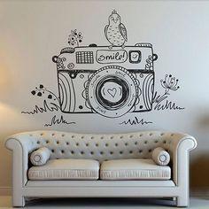 pared con camara pintada