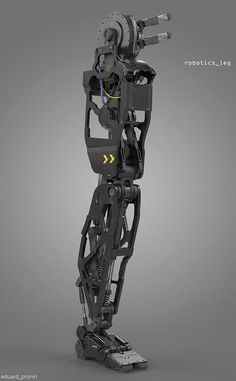 Robotics leg - concept design for visual arts industry (by Eduard Pronin) Cyberpunk, Robotic Prosthetics, Robot Leg, Robot Parts, Arte Robot, Robot Concept Art, Mechanical Design, Mechanical Hand, Robot Design