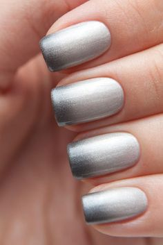 eleganter Ombre Effekt in Silber