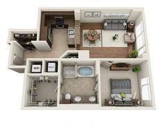 Mini House Plans, House Layout Plans, Dream House Plans, House Layouts, House Floor Plans, Home Building Design, Home Design Plans, Building A House, House Floor Design