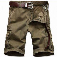 Lee Hanton Army Green Belted Cargo Shorts | Shorts, .tyxgb76aj ...
