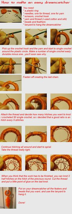How to make an easy dreamcatcher...  Summer wreath? this will kick our neighbors wreaths butts.