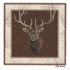 Bull Elk HEAT PRESS TRANSFER for T Shirt Sweatshirt Tote Bag Fabric Block #233 #AB