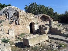 Picture - Ancient catacomb at Pafos.  Cyprus. PlanetWare