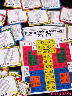 Butterfly place value puzzle where kids grab a card with base 10 blocks and figure out the number it is and color it in to reveal a butterfly! Click this to see a video of it being done… such a fun way to practice number sense!