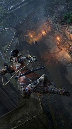 Sekiro: Shadows Die Twice, Grappling Hook, Wallpaper Hidetaka Miyazaki, Fun Video Games, Bloodborne Art, Grappling Hook, 3840x2160 Wallpaper, From Software, Arte Obscura, All Souls, Samurai Art