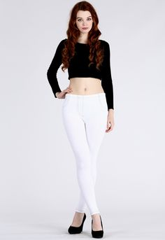 WHITE DENIM JEGGINGS