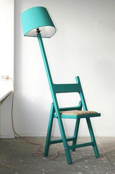 Folding Chair + Lamp