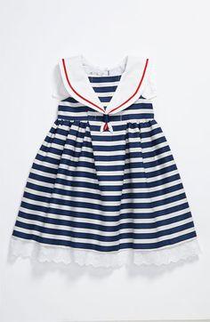 Pippa & Julie Stripe Sailor Dress (Toddler) | Nordstrom