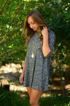 This lightweight sweater dress is perfect!