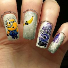 "@rachelsequoia's photo: ""My second set of minion nails for my client Kirsty, hope you like em chick ;)"""